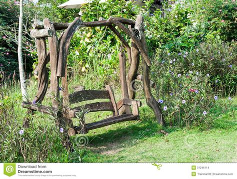 old wooden swing old wooden swing stock images image 31246114