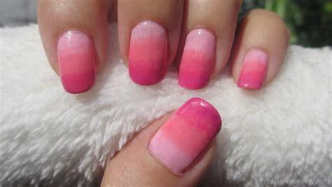 tutorial nail art sfumato real asian beauty pink ombre nail art tutorial