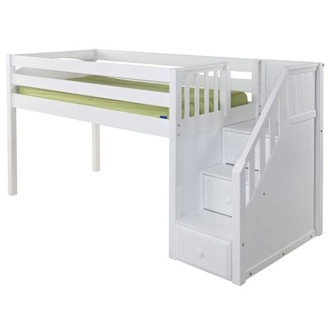 low bunk beds great low loft bed with staircase rosenberryrooms