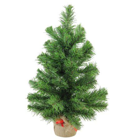 walmart christmas tree bases 18 quot pine artificial tree in burlap base walmart