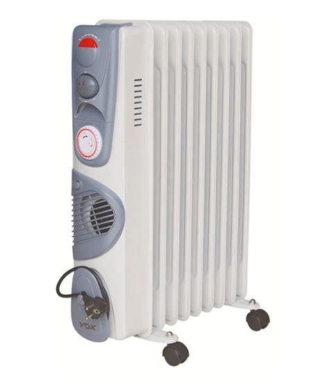 vox fin  od  tf fan oil filled room heater buy vox