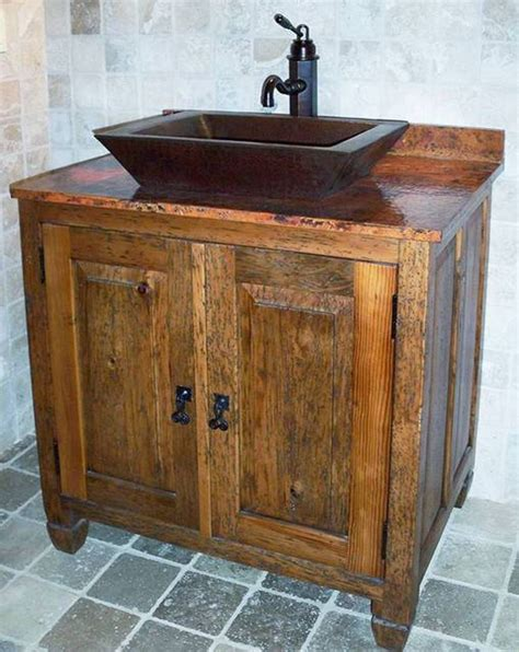Rustic Bathroom Sink by 17 Best Ideas About Wooden Bathroom Vanity On Rustic Bathroom Sink Faucets Wooden
