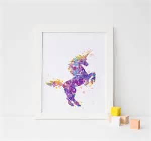 Unicorn Wall Decor by Unicorn Print Unicorn Watercolor Unicorn Wall Print