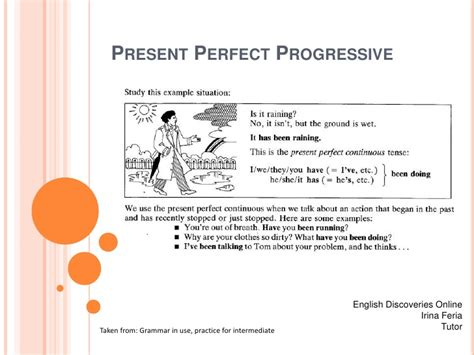 pattern of present perfect progressive present perfect progressive
