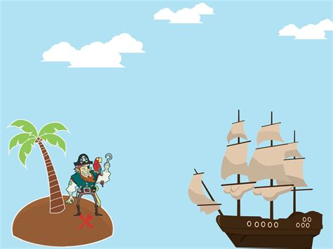 Pirate Island Backgrounds Cartoon Multi Color Templates Free Ppt Grounds And Powerpoint Pirate Powerpoint Template