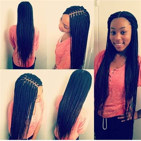 how to braid hair for a middle part sew in 40 stunning medium box braids to do yourself