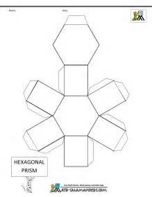 3d Hexagon Template by 3d Geometric Shapes Nets