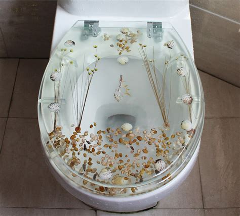 set transparent bath accessories safety resin toilet