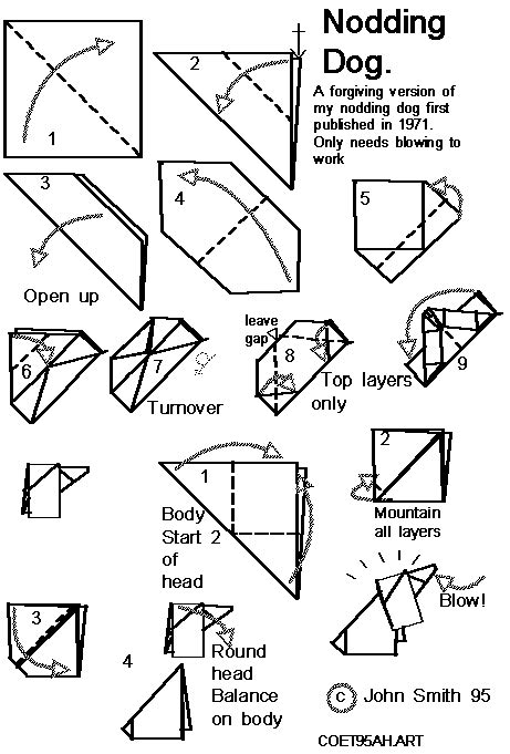 Barking Origami - barking origami comot