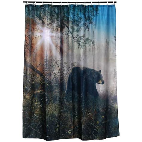 black bear curtains black bear shadow in the mist shower curtain 763 buffalo
