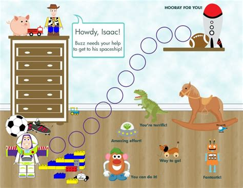 printable reward charts toy story personalized printable child behavior incentive chart it