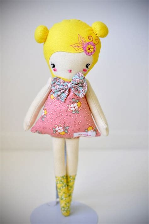 Lulu Handmade - lulu vintage prints nooshka doll handmade cloths