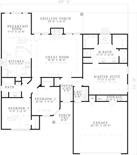 one level house floor plans one story cottage style house plan one story house plans with open floor plans design basics