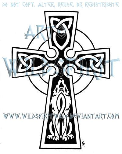 irish wolf tattoo designs celtic wolf cross cool tattoos