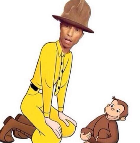 Pharrell Hat Meme - pharrell hat curious george sugar cayne