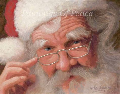 holiday painting santa claus portrait painting etsy
