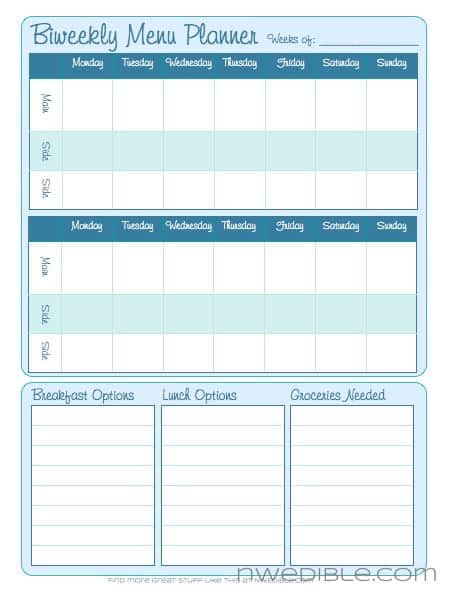 bi weekly planner template calendar template 2016
