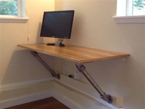 Build A Wall Desk by Wall Mounted Desk With Angled Supports