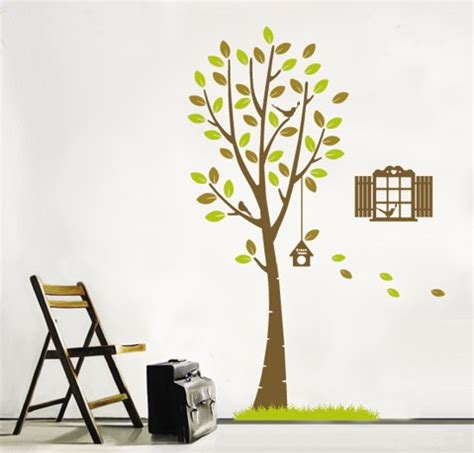 Tree Bird Cage 60x90 Grosir Wall Sticker Raja Dinding