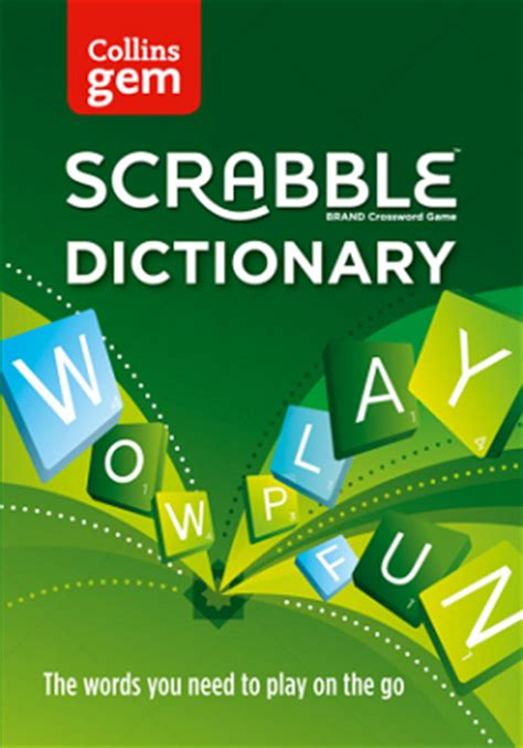 scrabble collins dictionary collins scrabble dictionary gem edition by collins