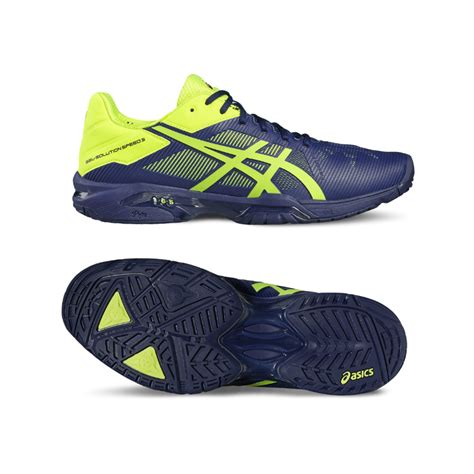 asics gel solution speed 3 s tennis shoe 2017