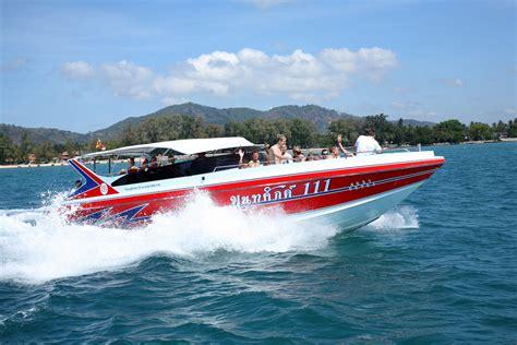 speed boat in phuket speed boat island phuket trip thavorn beach village