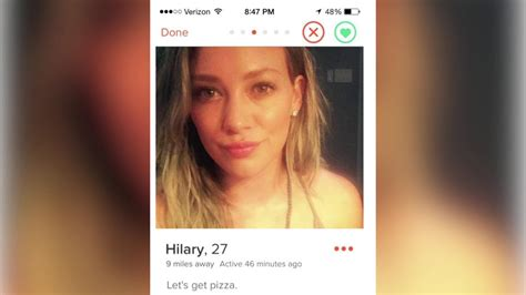 Search In Tinder Hilary Duff Goes On A Tinder Date