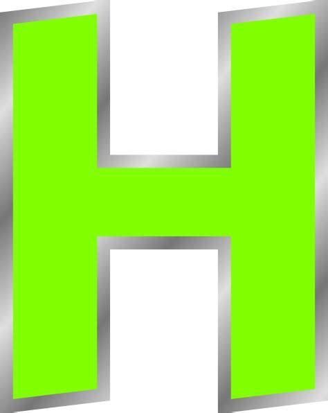 h h green h clip art at clker com vector clip art online