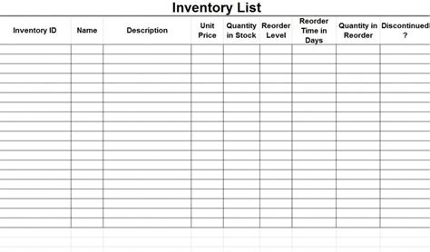 master inventory list template ready to use excel stock inventory list and management