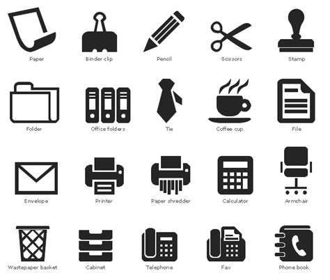 Software For Planning Room Layouts office pictograms vector stencils library office