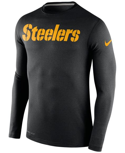 Bajukaost Shirt Nike Slevee 1 lyst nike s sleeve pittsburgh steelers dri fit touch t shirt in black for