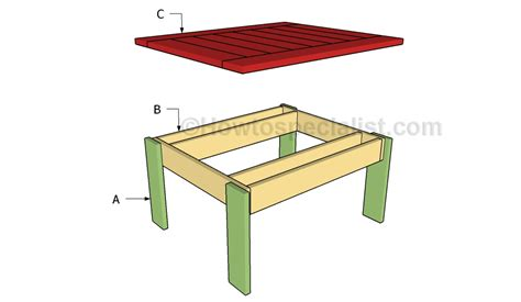small outdoor table plans howtospecialist how to build
