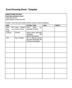 Function Sheet Template by Run Sheet Template 6 Free Word Excel Pdf Document