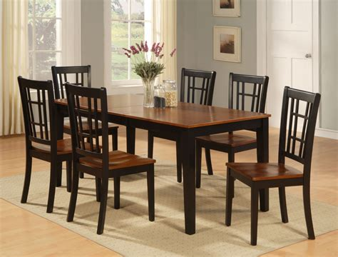 Kitchen Tables Chairs Dinette Kitchen Dining Room Set 7pc Table And 6 Chairs Ebay