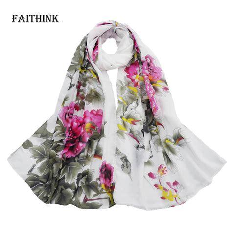 faithink new casual peony floral scarf gradual