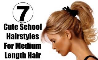 easy hairstyles for to medium length hair 7 school hairstyles for medium length hair style presso