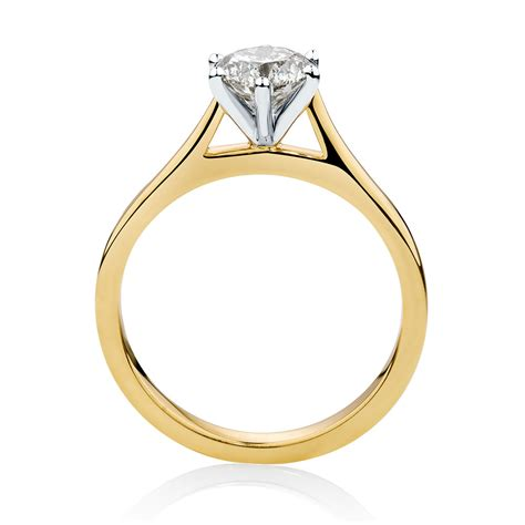 1 Carat Engagement Ring by Solitaire Engagement Ring With 1 Carat In 14ct