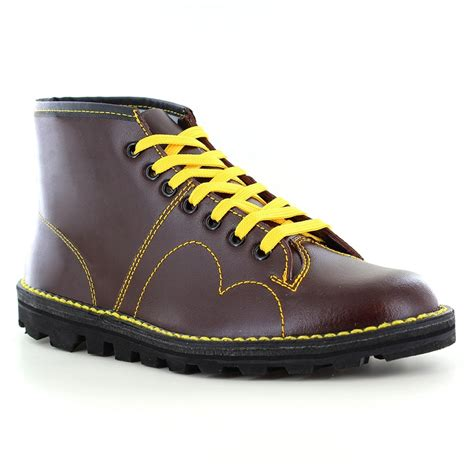 free monkey boots grafters b430bd mens leather 7 eyelet monkey boots wine