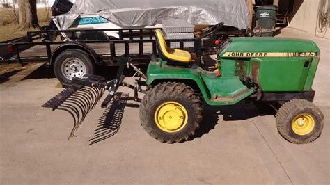 landscape rake garden tractor implement forum gttalk
