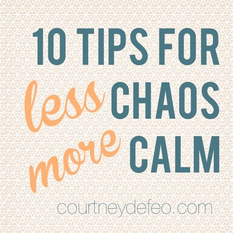 10 Tricks For Less by 10 Tips For Less Chaos More Calm Defeo