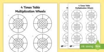 wheels activity table 4 times table multiplication wheels worksheet activity sheet