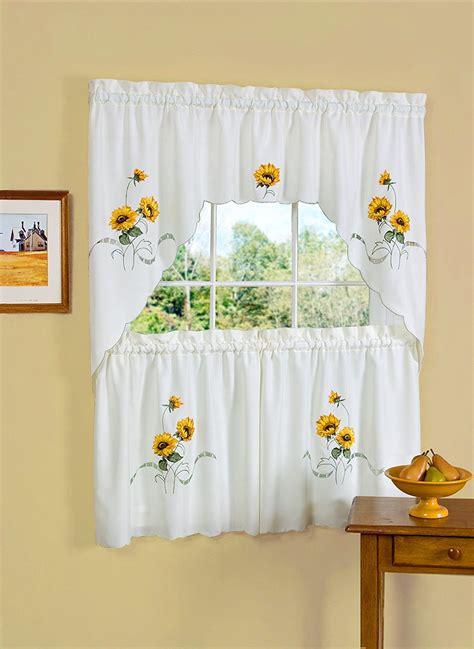 sunflower curtains kitchen pretty sunflower kitchen decor theme
