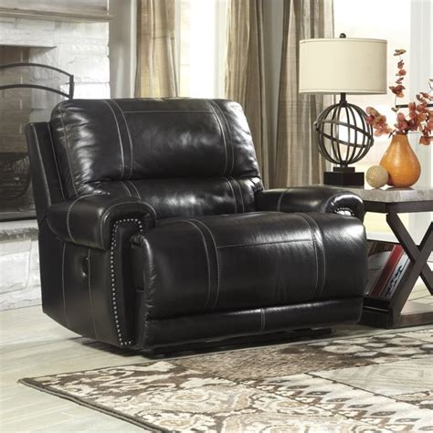 paron leather zero wall wide power recliner in