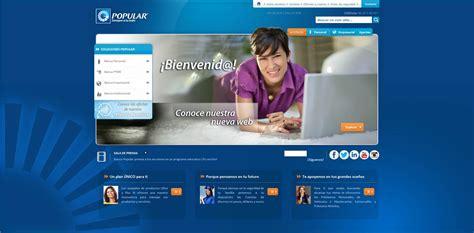 pagina banco popular banco popular estrena nueva p 225 gina web audiencia electr 243 nica