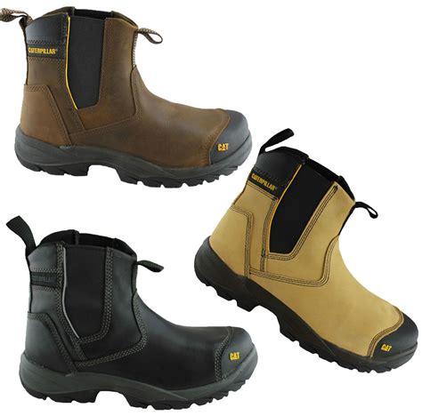 caterpillar cat propane mens steel toe work safety boots