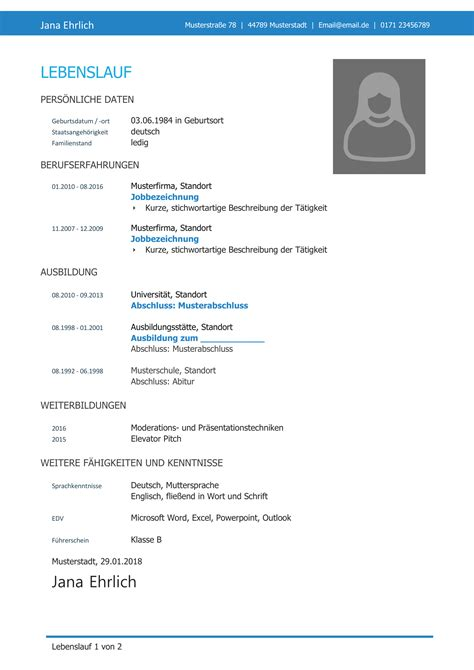 Cv Muster by Professioneller Lebenslauf Tipps Zur Optimierung