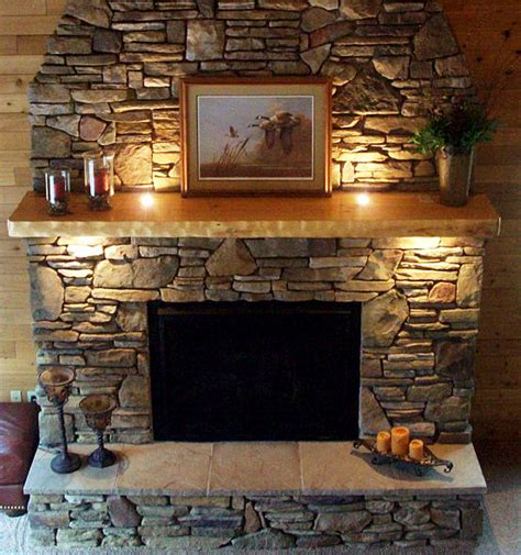 Faux Stone Fireplace Mantel   Interior Design Ideas