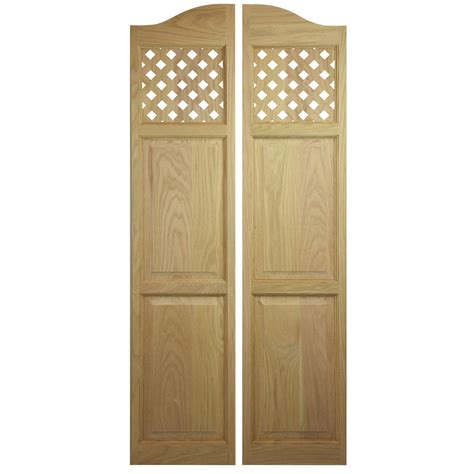 Swinging Interior Door Custom Oak Length Swinging Interior Doors Cafe Doors