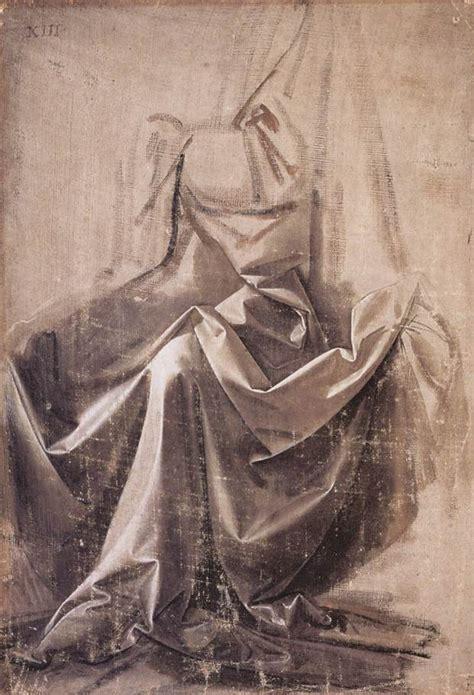 Leonardo Da Vinci Drapery drapery for a seated figure leonardo da vinci wikiart org encyclopedia of visual arts