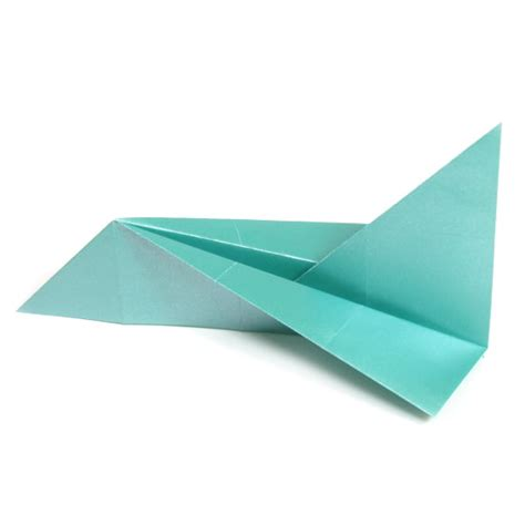 Origami Aeroplane Easy - how to make a simple jet plane page 9